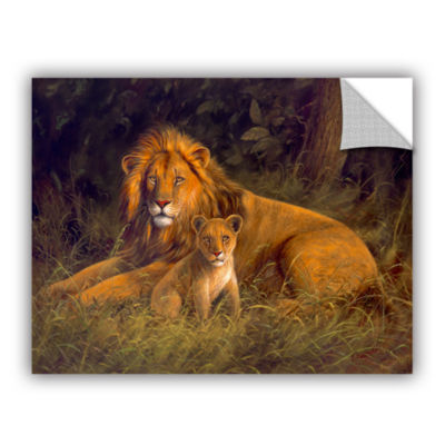 Brushstone Lion And Cub Removable Wall Decal
