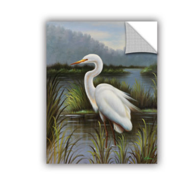 Brushstone Morning Egret Removable Wall Decal