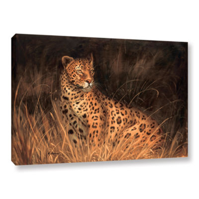 Brushstone Spotted African Cat Gallery Wrapped Canvas Wall Art