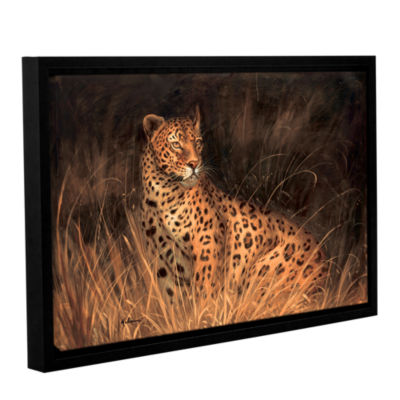 Brushstone Spotted African Cat Gallery Wrapped Floater-Framed Canvas Wall Art