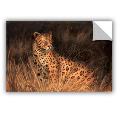 Brushstone Spotted African Cat Removable Wall Decal