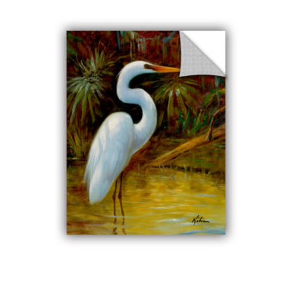 Brushstone Tropical Egret I Removable Wall Decal