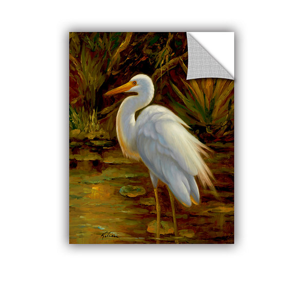 Brushstone Tropical Egret II Removable Wall Decal