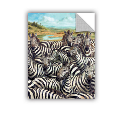 Brushstone Zebra GaThering Removable Wall Decal