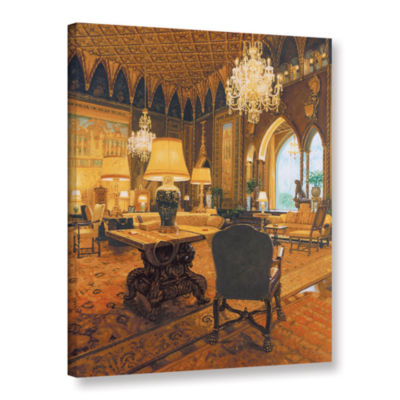 Brushstone Gold Reading Room Gallery Wrapped Canvas Wall Art