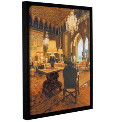 Brushstone Gold Reading Room Gallery Wrapped Floater-Framed Canvas Wall Art