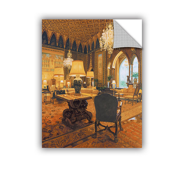 Brushstone Gold Reading Room Removable Wall Decal