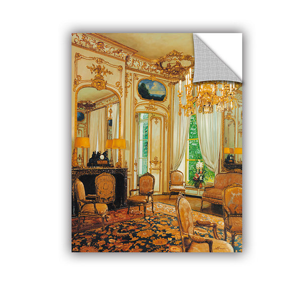 Brushstone Gold Sitting Room Removable Wall Decal