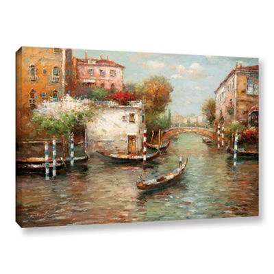 Brushstone Afternoon In Venice Gallery Wrapped Canvas Wall Art