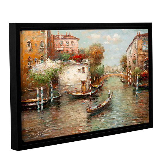 Brushstone Afternoon In Venice Gallery Wrapped Floater-Framed Canvas Wall Art