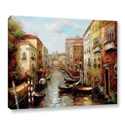 Brushstone Bridge Of The Gondola Gallery Wrapped Canvas Wall Art