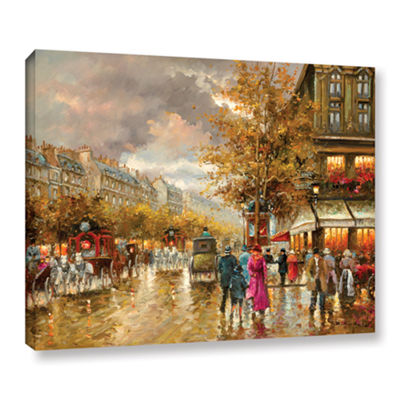 Brushstone Vintage Street Scene Gallery Wrapped Canvas Wall Art