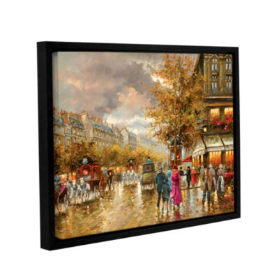 Brushstone Vintage Street Scene Gallery Wrapped Floater-Framed Canvas Wall Art