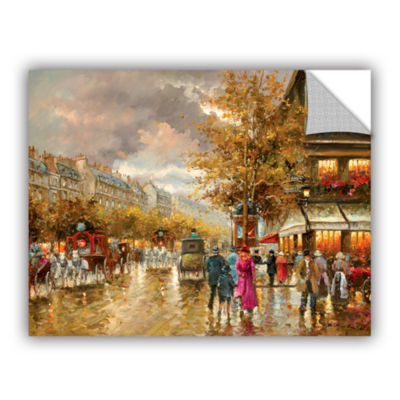 Brushstone Vintage Street Scene Removable Wall Decal
