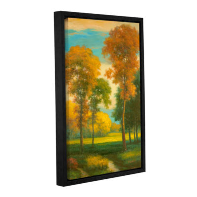 Brushstone Pastoral Gallery Wrapped Floater-FramedCanvas Wall Art