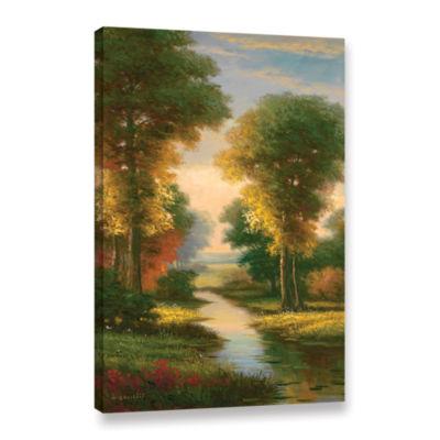 Brushstone Serenity I Gallery Wrapped Canvas WallArt