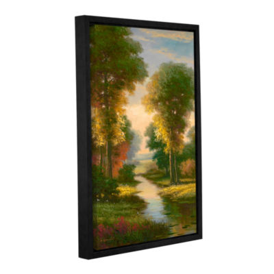 Brushstone Serenity I Gallery Wrapped Floater-Framed Canvas Wall Art