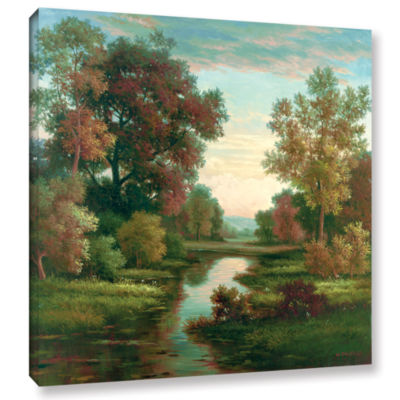 Brushstone Tranquility I Gallery Wrapped Canvas Wall Art