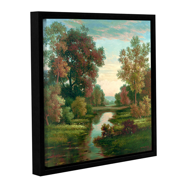 Brushstone Tranquility I Gallery Wrapped Floater-Framed Canvas Wall Art