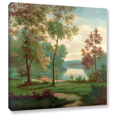 Brushstone Tranquility II Gallery Wrapped Canvas Wall Art