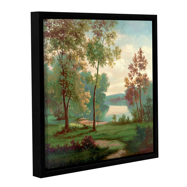 Brushstone Tranquility II Gallery Wrapped Floater-Framed Canvas Wall Art