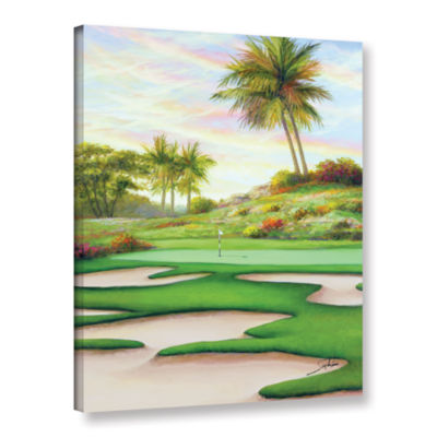 Brushstone #8 Bunkers At Emeral Dunes Gallery Wrapped Canvas Wall Art