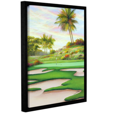 Brushstone #8 Bunkers At Emeral Dunes Gallery Wrapped Floater-Framed Canvas Wall Art