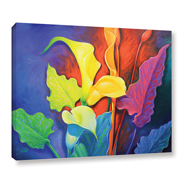 Brushstone Dazzle Gallery Wrapped Floater-Framed Canvas Wall Art