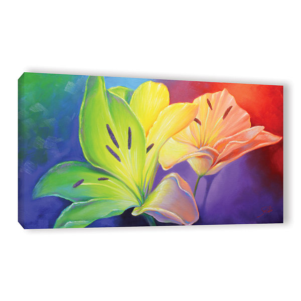 Brushstone Flamboyant Gallery Wrapped Canvas WallArt