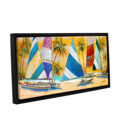 Brushstone Grand Bay Sails Gallery Wrapped Floater-Framed Canvas Wall Art