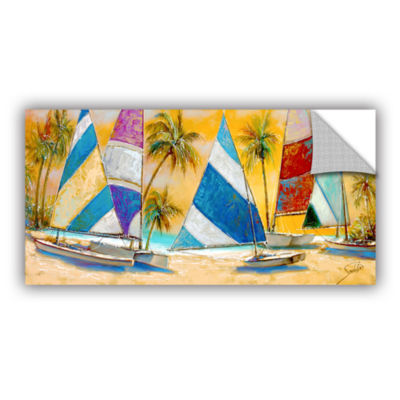 Brushstone Grand Bay Sails Removable Wall Decal