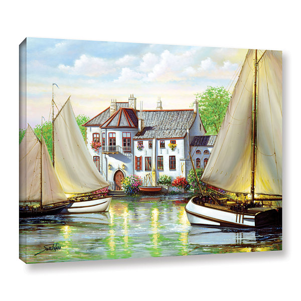 Brushstone Reie House Landing Gallery Wrapped Canvas Wall Art