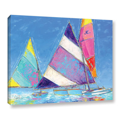 Brushstone Saucy Sails Gallery Wrapped Floater-Framed Canvas Wall Art