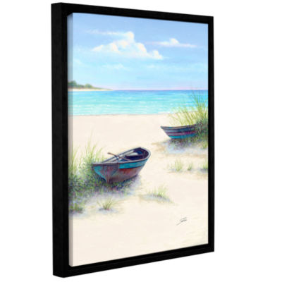 Brushstone South Coral Beach Gallery Wrapped Floater-Framed Canvas Wall Art
