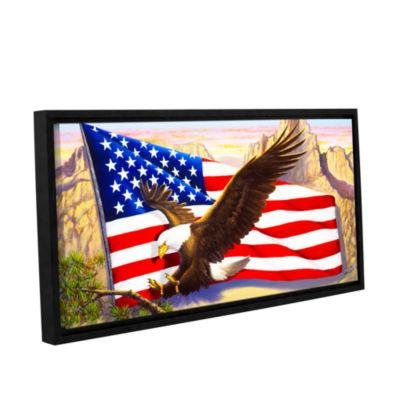 Brushstone Spirit Of America Gallery Wrapped Floater-Framed Canvas Wall Art