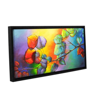 Brushstone Sunshine Gallery Wrapped Floater-FramedCanvas Wall Art