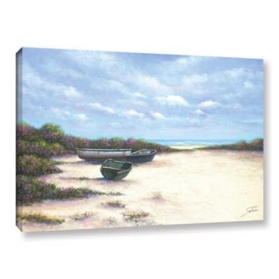 Brushstone West Wind Beach Gallery Wrapped CanvasWall Art