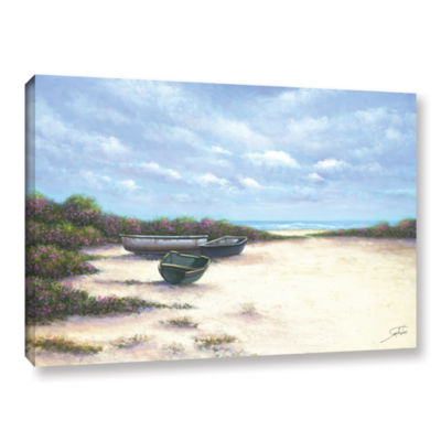 Brushstone West Wind Beach Gallery Wrapped CanvasWall Art