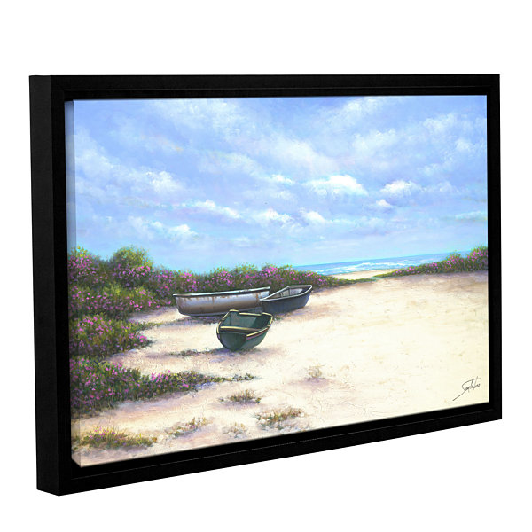 Brushstone West Wind Beach Gallery Wrapped Floater-Framed Canvas Wall Art