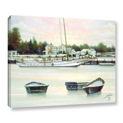 Brushstone Winter Harbor Gallery Wrapped Floater-Framed Canvas Wall Art