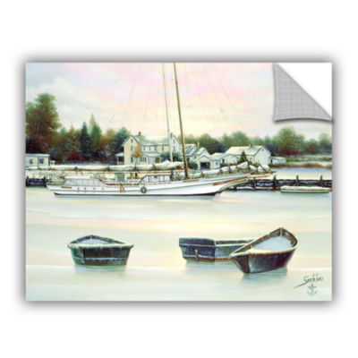 Brushstone Winter Harbor Removable Wall Decal