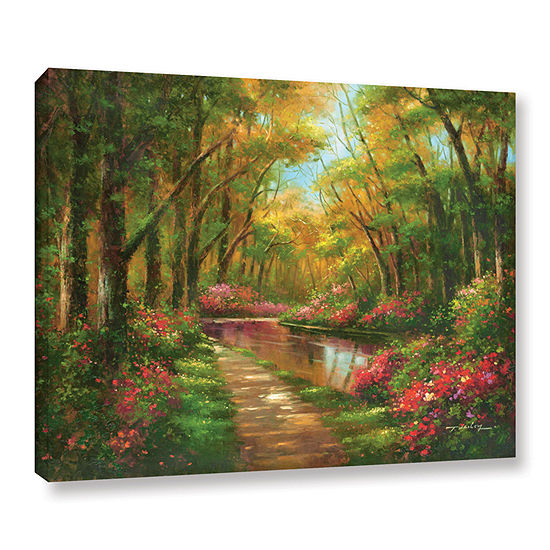 Brushstone Enchanted Creek I Gallery Wrapped Canvas Wall Art