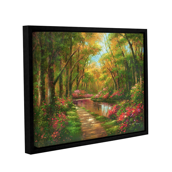Brushstone Enchanted Creek I Gallery Wrapped Floater-Framed Canvas Wall Art