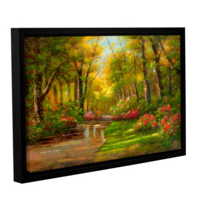 Brushstone Enchanted Creek II Gallery Wrapped Floater-Framed Canvas Wall Art