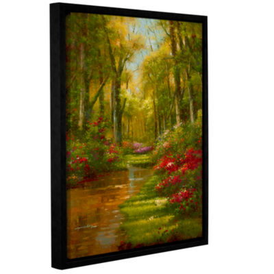 Brushstone Enchanted Creek III Gallery Wrapped Floater-Framed Canvas Wall Art