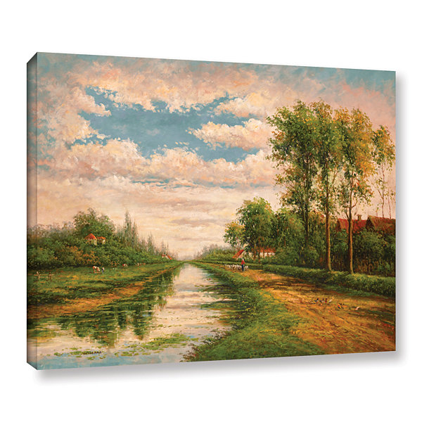 Brushstone Scottish Morning Gallery Wrapped CanvasWall Art