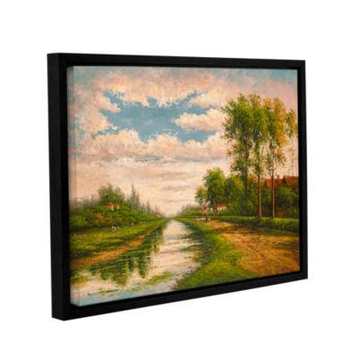 Brushstone Scottish Morning Gallery Wrapped Floater-Framed Canvas Wall Art