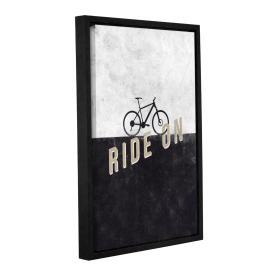 Brushstone Ride On Gallery Wrapped Floater-FramedCanvas Wall Art