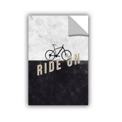 Brushstone Ride On Removable Wall Decal