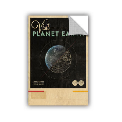 Brushstone Visit Planet Earth Removable Wall Decal